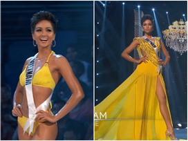 H'Hen Niê trình diễn bikini gợi cảm, tung váy dạ hội 'xuất quỷ nhập thần' đêm bán kết Miss Universe 2018