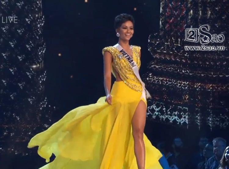 HHen Niê trình diễn bikini gợi cảm, tung váy dạ hội xuất quỷ nhập thần đêm bán kết Miss Universe 2018-1