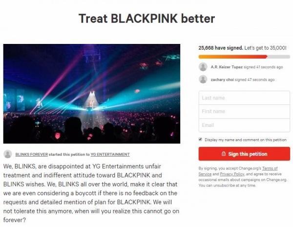Tức nước vỡ bờ, fan Black Pink ký tên yêu cầu YG đối xử với nhóm tử tế hơn nếu không muốn đối mặt với cuộc tẩy chay quy mô lớn-5