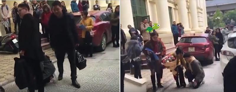 Mang hoa quỳ gối tỏ tình hot girl Học viện Âm nhạc, nam sinh bị dân mạng ném đá vì lý do này-3