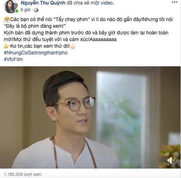 Bị tố giả dối, Thu Quỳnh vẫn kêu gọi khán giả xem phim của chồng cũ Chí Nhân-1