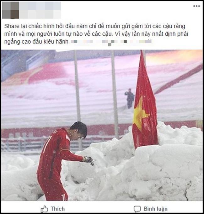 Dân mạng bất ngờ chia sẻ lại hình ảnh Duy Mạnh cắm cờ ở Thường Châu kèm lời chúc ý nghĩa: Lần này ngẩng cao đầu nhé-3
