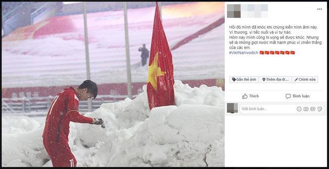 Dân mạng bất ngờ chia sẻ lại hình ảnh Duy Mạnh cắm cờ ở Thường Châu kèm lời chúc ý nghĩa: Lần này ngẩng cao đầu nhé-4