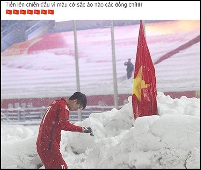 Dân mạng bất ngờ chia sẻ lại hình ảnh Duy Mạnh cắm cờ ở Thường Châu kèm lời chúc ý nghĩa: Lần này ngẩng cao đầu nhé-5