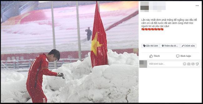 Dân mạng bất ngờ chia sẻ lại hình ảnh Duy Mạnh cắm cờ ở Thường Châu kèm lời chúc ý nghĩa: Lần này ngẩng cao đầu nhé-6