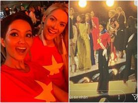 Đang bận tổng duyệt Miss Universe, H'Hen Niê vẫn rủ hoa hậu Mỹ mặc áo cờ đỏ sao vàng cổ vũ tuyển Việt Nam