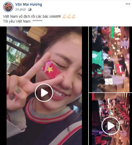 Dàn sao Việt gào nổ mạng xã hội, tưng bừng đi bão ăn mừng tuyển Việt Nam vô địch AFF Cup 2018-12