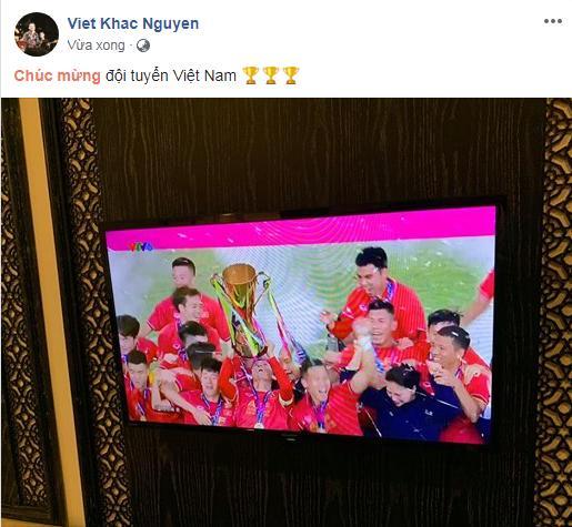 Dàn sao Việt gào nổ mạng xã hội, tưng bừng đi bão ăn mừng tuyển Việt Nam vô địch AFF Cup 2018-11