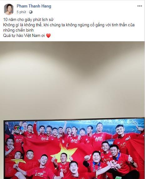 Dàn sao Việt gào nổ mạng xã hội, tưng bừng đi bão ăn mừng tuyển Việt Nam vô địch AFF Cup 2018-10
