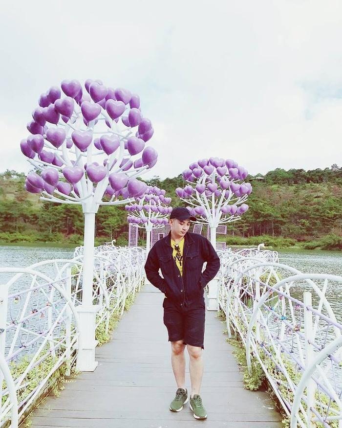 Lại có thêm một cây cầu tình yêu màu tím làm lịm tim biết bao du khách ở Đà Lạt-2
