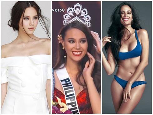 Cận cảnh vẻ đẹp lai tây hút hồn của Catriona Gray - Tân Hoa hậu Hoàn vũ 2018