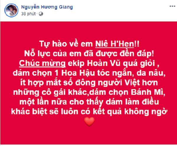 Dàn sao Việt xúc động đến nghẹn ngào khi HHen Niê xác lập kỳ tích tại Miss Universe 2018-5