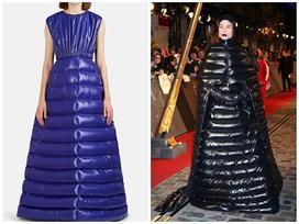 Choáng với váy dạ hội biến tấu từ áo phao, giá hơn 60 triệu