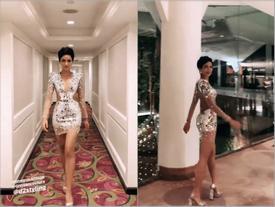 Đến khi Miss Universe 2018 kết thúc, H'Hen Niê mới mạnh dạn mặc bộ đầm ngắn và sexy nhất cả cuộc thi