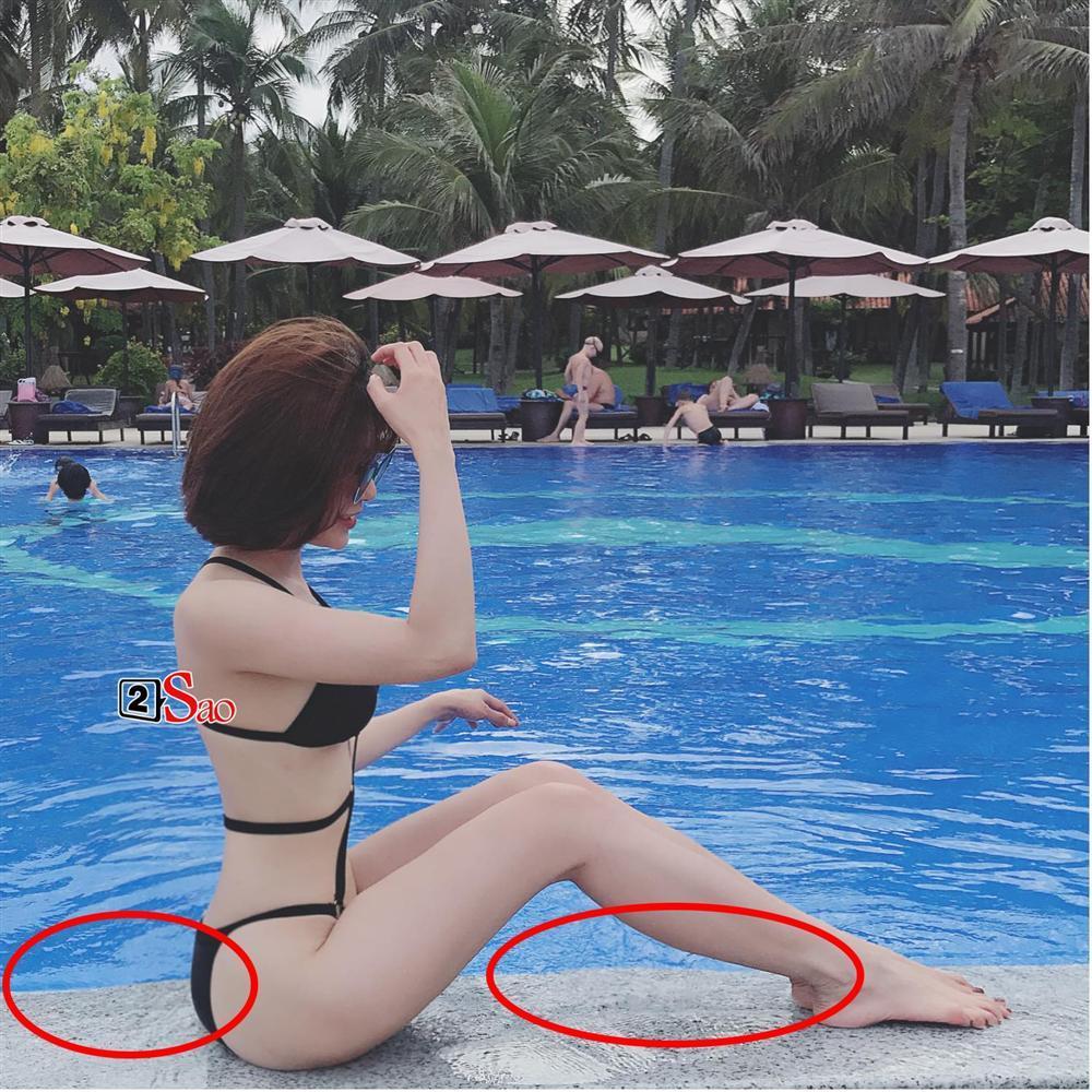 Quá nôn nóng giảm cân sau sinh, Diệp Lâm Anh lại bị soi chỉnh sửa ảnh đến biến dạng tay, méo cả tường-5
