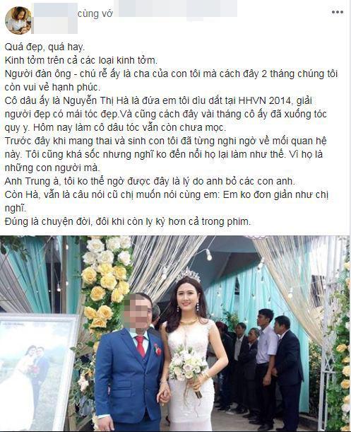 Đội tóc giả nhưng mỹ nhân có mái tóc đẹp nhất Hoa hậu Việt Nam 2014 Nguyễn Thị Hà vẫn rạng rỡ trong ngày đại hỉ-2