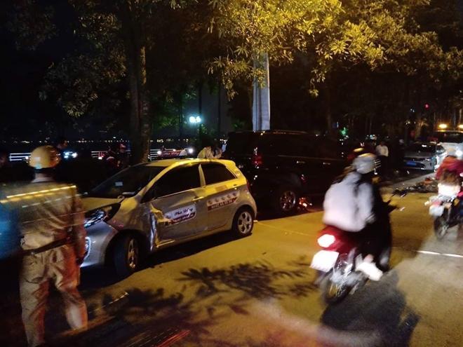 Nữ lái xe Lexus gây tai nạn liên hoàn trên phố Trích Sài có nồng độ cồn cao-1