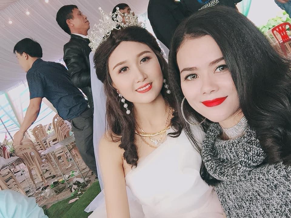 Đội tóc giả nhưng mỹ nhân có mái tóc đẹp nhất Hoa hậu Việt Nam 2014 Nguyễn Thị Hà vẫn rạng rỡ trong ngày đại hỉ-4