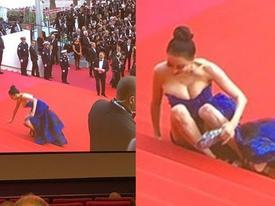 Mỹ nhân Hoa ngữ ngất vì mặc mỏng, cố tình 'vồ ếch' gây chú ý
