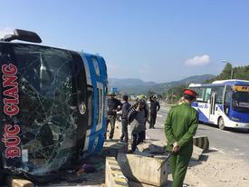 Lật xe khách ở Quảng Ninh, 7 người thương vong