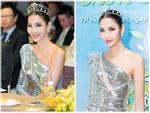 Fan thiết kế quốc phục hoa dâm bụt, chè đậu đen giúp Hoàng Thùy chinh chiến Miss Universe 2019-6