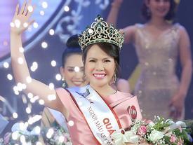 Thạc sĩ U50 Trần Thị Hiền đoạt vương miện Người mẫu Quý bà Việt Nam 2018