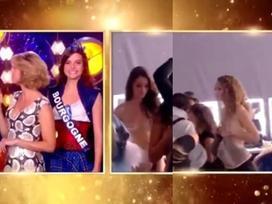 Người đẹp Hoa hậu Pháp lộ cảnh ngực trần trên sóng trực tiếp