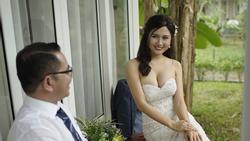Người đẹp xuống tóc đi tu bất ngờ cưới đại gia: 'Tôi không giật chồng ai'