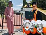 Danh hài Hoài Linh lần đầu tiên công khai khoe con trai ruột bảnh bao, tốt nghiệp Đại học danh tiếng ở Mỹ