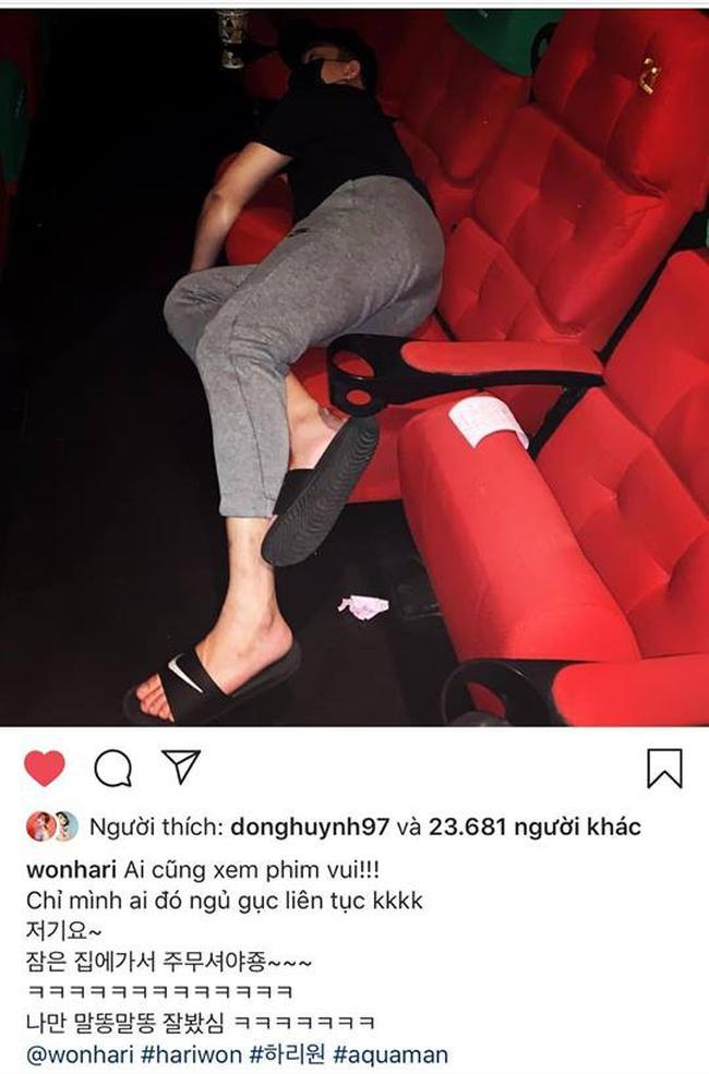 Chưa kịp xem phim đã ngủ khò, Trấn Thành bị bà xã tung ảnh giường ghế bóc phốt chồng-1