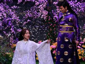 Được yêu cầu trổ tài võ nghệ, Hòa Minzy lại 'quẩy' điệu múa quạt khiến Trấn Thành phát hoảng