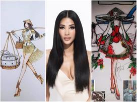 Fan thiết kế quốc phục 'hoa dâm bụt, chè đậu đen' giúp Hoàng Thùy chinh chiến Miss Universe 2019