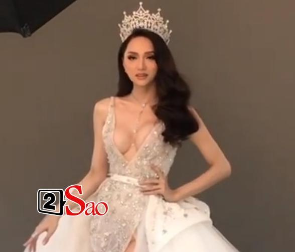 Hương Giang Idol lộ ngực méo mó trong hậu trường chụp ảnh chuẩn bị Miss International Queen 2019-1
