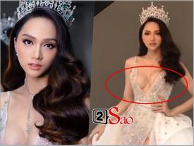 Hương Giang Idol lộ ngực méo mó trong hậu trường chụp ảnh chuẩn bị Miss International Queen 2019