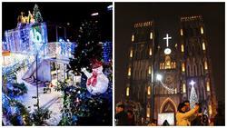 Những địa điểm check-in nóng máy mùa Giáng sinh tại Hà Nội