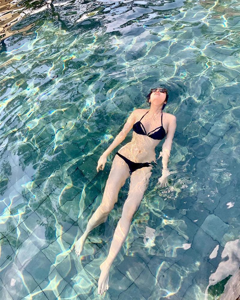 Phô diễn hình thể với bikini, Hoa hậu Kỳ Duyên để lộ vòng 1 teo tóp không nóng bỏng như trước-2