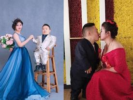 Đám cưới của cô dâu cao 1,6m và chú rể 90cm gây xôn xao mạng xã hội