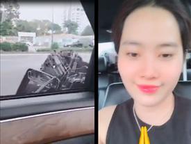 Ô tô nát gương sau va chạm với xe bus, chị em Nam Anh - Nam Em vẫn hớn hở vì của đi thay người