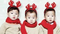 Bộ ba sao nhí Daehan Minguk Manse gửi lời chúc Giáng sinh vô cùng dễ thương