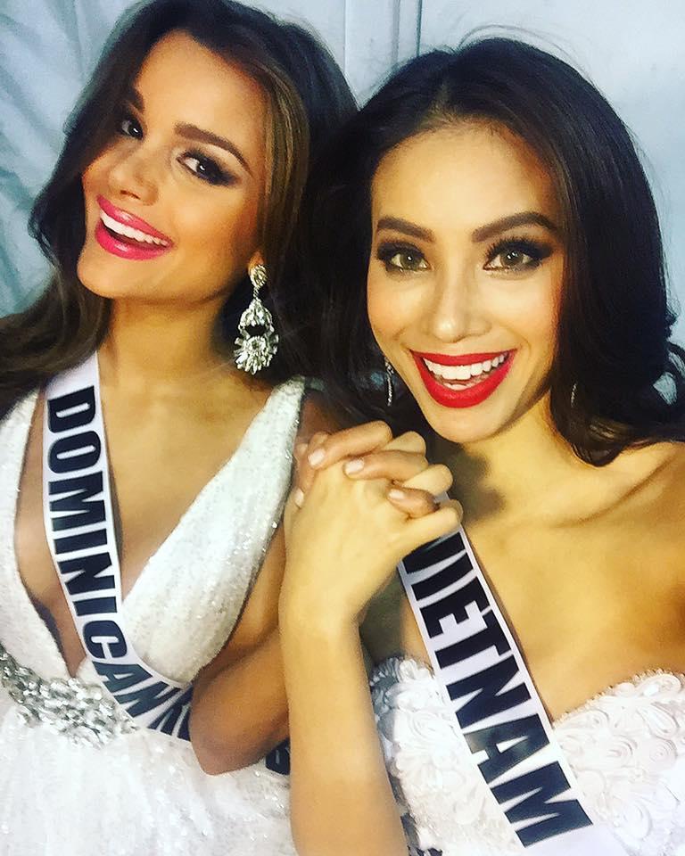 GIẬT MÌNH: Chỉ 3 năm sau Miss Universe 2015, bạn thân Hoa hậu Phạm Hương từ quý cô mỹ miều trở thành quý bà mỡ màng-1