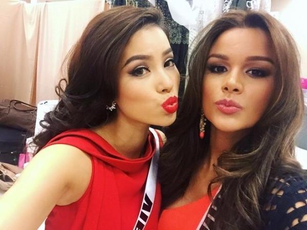 GIẬT MÌNH: Chỉ 3 năm sau Miss Universe 2015, bạn thân Hoa hậu Phạm Hương từ quý cô mỹ miều trở thành quý bà mỡ màng-2