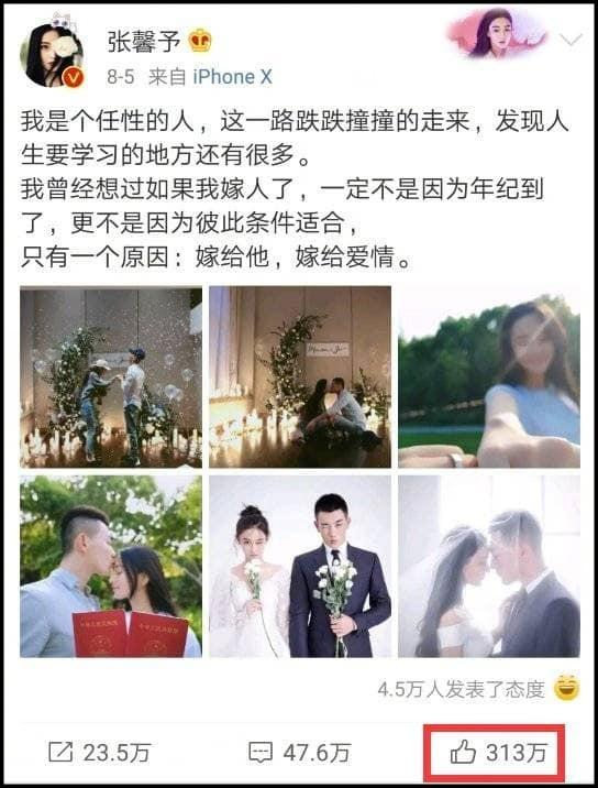 10 bài đăng có lượt thích cao nhất weibo 2018: Triệu Lệ Dĩnh khẳng định đẳng cấp đại lưu lượng-5