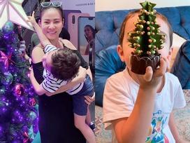 Đã chịu chụp ảnh góc cận nhưng Thu Minh vẫn nhất quyết giấu mặt con trai