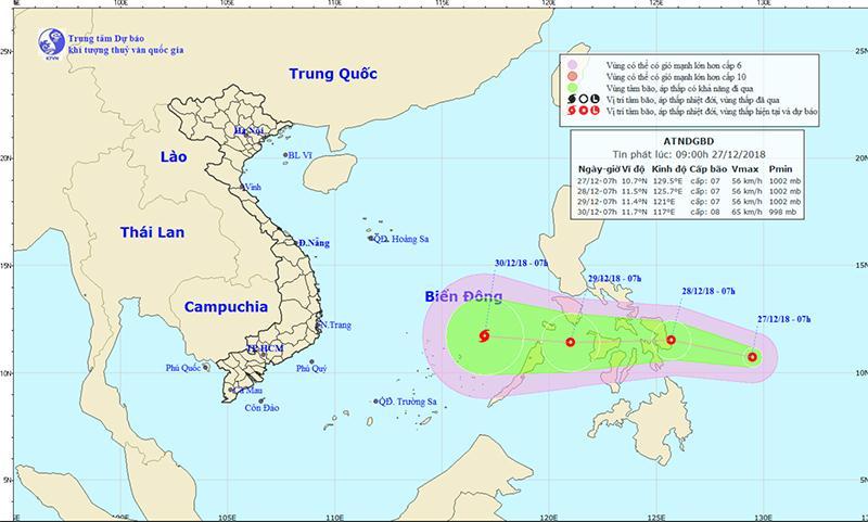 Áp thấp gần Biển Đông, khả năng mạnh lên thành bão-1