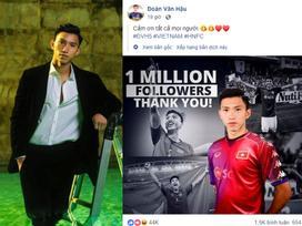Đoàn Văn Hậu chính thức bước vào câu lạc bộ 'triệu like' của dàn sao ĐTVN