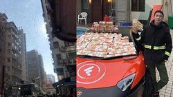 Thiếu gia đi siêu xe Lamborgini rải tiền khắp phố gây náo loạn