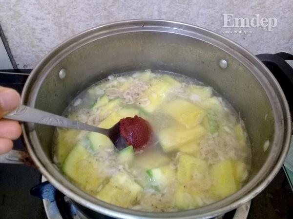 Canh bí non nấu đậu phụ ngọt ấm ngon cơm-4