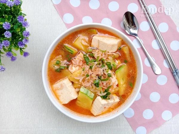 Canh bí non nấu đậu phụ ngọt ấm ngon cơm-6