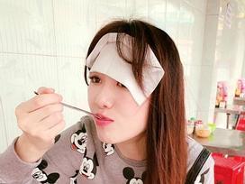 Trấn Thành kêu trời khi chứng kiến Hari Won ăn uống bất chấp rồi dán 'bùa cương thi' lên mặt