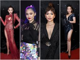 Thảm đỏ chung kết The Face 2018: Hoa hậu, Á hậu cũng không hút mắt bằng 'bông hồng' lai 3 dòng máu